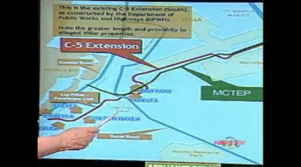 Monsod explains the difference between Villar's C-5 road and the MCTEP which is a BOT project.