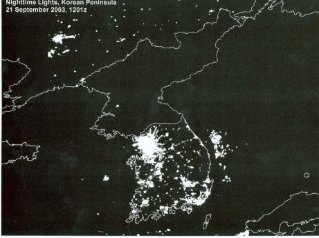 "It's always ""Earth Hour"" in North Korea..."