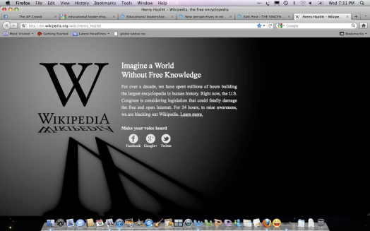 Wikipedia's shrugging...