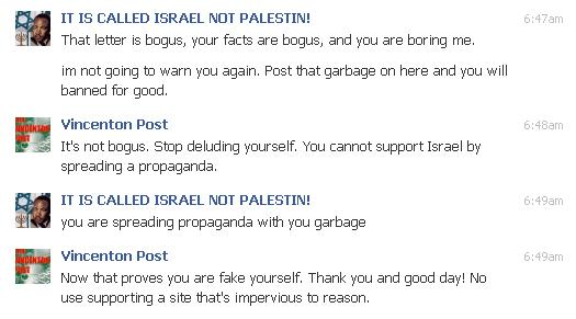 My private Facebook conversation with the FB admin.